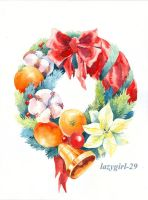 Christmas wreath by lazygirl-29