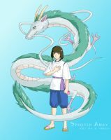 Spirited Away- Haku and Kohaku by tigerangel