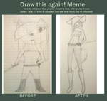 Cat Girl - Draw This Again Meme by CaliTheAnimeLover