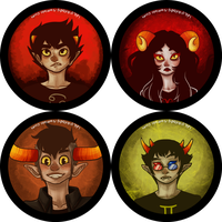 homestuck buttons set 1 by whinge