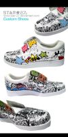 Custom Shoe Painting by STAR-27