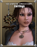 Steampunk Earrings Promo 4 by inception8