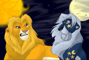 The Lions of the Sun and Moon by stuffed