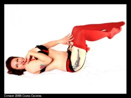 red stockings Pin Up by CaspersCreations