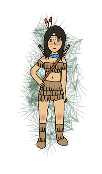 Native American Danielle (contest entry) by AlphaLordCalypso