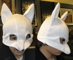 White Fox Mask by clearkid