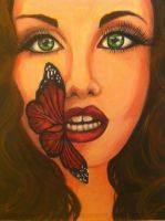 Girl with the butterfly lips by 101fatsos