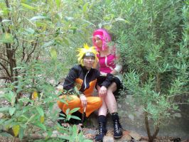 naruto sakura sitting in the trees by anime-lover64