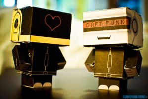Daft Punk cubecrafts. by diamondmarine