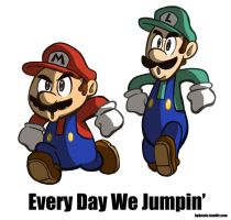 Every Day We Jumpin by hpkomic