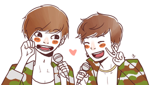 Baekyeol aegyo by Yui-00