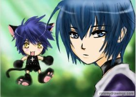 Ikuto and Yoru by shrimpHEBY
