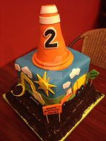 Construction Birthday Cake by simplysweets