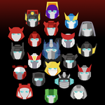 Autobot Heads by NightLokison