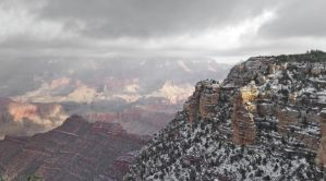 Snowy Grand Canyon by 4everN3rdy