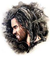 Watercolor - Traitor Rollins. by Artbynash