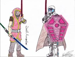 Star Wars Sketches 7 - Acroxolisc and Lineage by Koytei