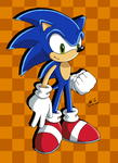 Sonic the hedgehog, again by Rapid-the-Hedgehog