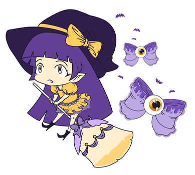 [CLOSED] Mahou Witch OC by CloverWing