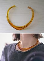 Amber Circlet Necklace by MonsterBrandCrafts