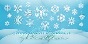 Snowflakes Brushes 3 by cherryproductionsorg