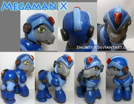 Mega Man X Custom OOAK My Little Pony by daunted