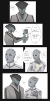 Tsovik - Javik is terrible with babies by Tirameezu