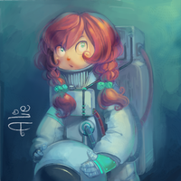Astronaut Alie by Alie-Reol