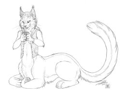 Sketch Chakat Sneakpaw by TaniDaReal