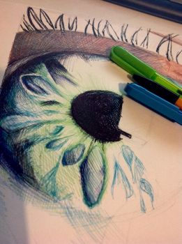 WIP! Eye doodle by PaigeAHanlon
