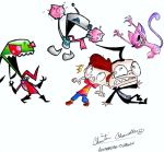 Invader Zim, Kid v Kat COLOR by austrailian-dragon