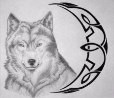 Wolf Tribal Tattoo 2 by Serpant02