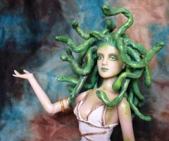 OOAK Custom Medusa doll by redmermaidwerewolf