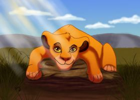 Simba's rest by Esphir