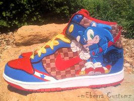 Sonic 'Light Speed' dunks -tWo by meberra