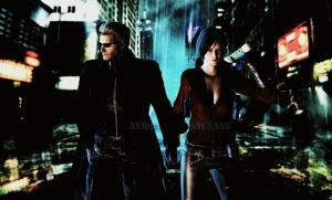 Albert wesker and Ada Wong by NeroNivans