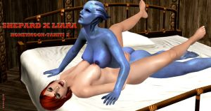 Shepard X Liara   HONEYMOON-TAHITI 2   8-3-2015 by blw7920