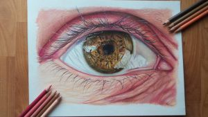 Drawing of an eye by Kragehul