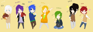 colour chibis adobtable closed. by BlackBloodHunter