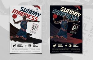 Basketball Match Flyer by caffeinesoup
