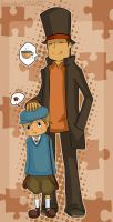 Professor Layton and Luke by Immature-Child02