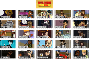 Total Drama All Stars Stamps by Lets-Get-Saiko