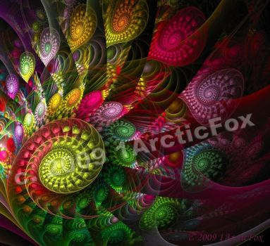 PSYCHEDELIC PEACOCK by 1arcticfox