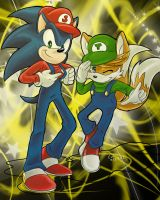 Collab: Super Sonic Bros. by lovely-kunoichi