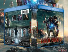 Iron Man 3 Bluray Cover by ToHeavenOrHell