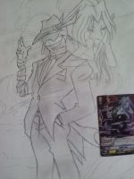 Cardfight!! Vanguard Silent Tom Sketch by PhantomX42