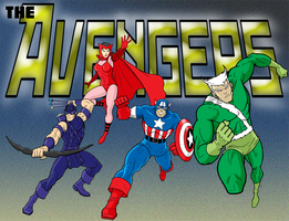 Old School Avengers by Thuddleston