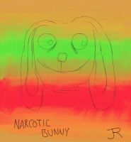 Narcotic Bunny by bigbrownpaperbag