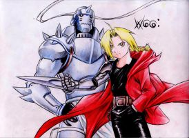 Edward y Alphonse Elric by WGGcomic