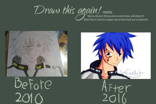 Draw this again ~ Jellal Fairy Tail by SooCatArt